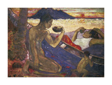 Tahitian Family Premium Giclee Print by Paul Gauguin