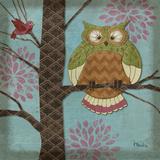 Fantasy Owls I Poster van Paul Brent