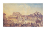 A Tribute To the Architecture of Rome Premium Giclee Print by Charles Cockerell