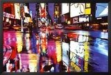 Times Square Colors Poster