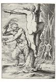 "Agostino Carracci (Consequence of the so-called ""Lascivie"" Satyr, a nymph whip) Posters"