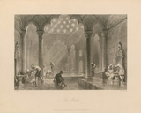 The Bath Premium Giclee Print by Thomas Allom