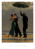 Dancer in Emerald Poster van Jack Vettriano