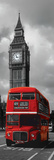 London-Red Bus Plakaty