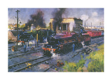 Express Engines Premium Giclee Print by Terence Cuneo