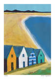 Cabanas by the Sea Giclee Print by Gale McKee