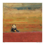 Sitting Panda Giclee Print by Mj Lew