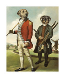 Golfers from the North Premium Giclee Print by Thierry Poncelet