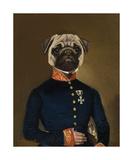 Pug Arrives Giclee-tryk i høj kvalitet af Thierry Poncelet