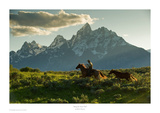 Along the Teton Trail Print by Robert Dawson