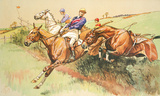 A Dangerous Competitor Premium Giclee Print by Dorothy Hardy