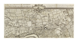 An Exact Survey of Chiswick and Hamersmith, 1745 Premium Giclee Print by John Rocque