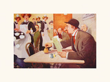 A Desperate Affray Premium Giclee Print by Alfred Leete