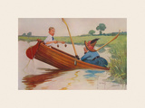 Steer Henry, You&#39;re the Coxswain! Premium Giclee Print by Charles Crombie