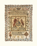 Sampler with Coat of Arms Premium Giclee Print by Mary Hammersley