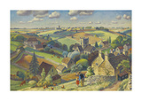 Cotswold Pattern Premium Giclee Print by Adrian Allinson