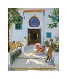 My Studio Door, Tangier Gicléetryck på högkvalitetspapper av Sir John Lavery
