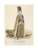 Isabeau de Baviere, Wife of Charles VI Premium Giclee Print by Louis-Marie Lante