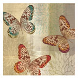 Tropical Butterflies II Print by Tandi Venter