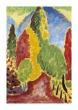 Landscape Variation Premium Giclee Print by Alexej Von Jawlensky