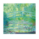 The Waterlily Pond with Japanese Bridge, 1899 Eksklusivudgaver af Claude Monet