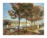 Le Pont d'Argenteuil en Automne Premium Giclee Print by Pierre-Auguste Renoir