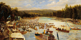 Boating Scene Premium Giclee Print by Theodore Hines