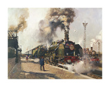 The Golden Arrow (La Fleche d'Or) Premium Giclee Print by Terence Cuneo