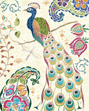 Peacock Fantasy III Print by Daphne Brissonnet