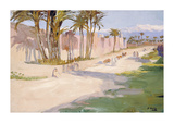 The Walls of Marrakesh Premium Giclee Print by Sir John Lavery