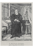 "Adolf Friedrich Erdmann of Menzel (Illustrations to ""Luther's life,"" Doctor Martin Luther) B Posters"