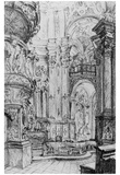 Adolf Friedrich Erdmann of Menzel (Chorus a Baroque church) Posters