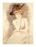 The Black Hat II Premium Giclee Print by Paul Helleu