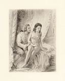 Amorous Embrace Premium Giclee Print by Gabriel Ferrier