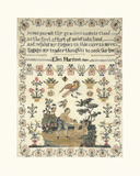 Sampler with Child and Dog Premium Giclee Print by Ellen Harrison