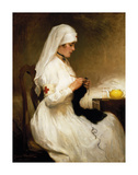 Portrait of A Nurse from the Red Cross Premium Giclee Print by Gabriel Emile Niscolet