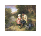 Fishing with Grandpa Premium Giclee Print by George O'Neill