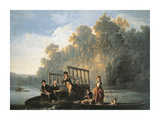 The Fishing Match Premium Giclee Print by Joseph Farrington