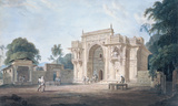 A Mosque, Chunargarh Premium Giclee Print by Thomas & William Daniell
