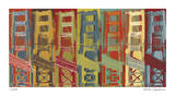 Golden Gate Impression giclée par Mj Lew