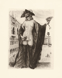 A Venetian Rose Premium Giclee Print by Gabriel Ferrier