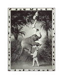 Balancing An Elephant! Premium Giclee Print by Unknown