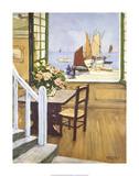 A Breton Window Premium Giclee Print by Raymond Wintz
