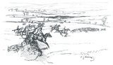 Warrior Hunting With the Isle of Wight Fox Hounds Premium Giclee Print by Sir Alfred Munnings