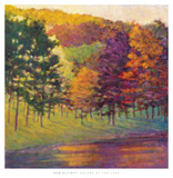 Colors at the Lake Prints by Ken Elliott