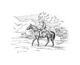 Warrior On the Way Up To the Downs Premium Giclee Print by Sir Alfred Munnings