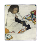 Opening the Christmas Stocking Premium Giclee Print by Jessie Willcox Smith