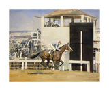 Saucy Sue Winning the Oaks (Sketch) Premium Giclee Print by Sir Alfred Munnings