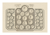 Coins and Medals of the Sovereigns and States of Europe Giclée-Premiumdruck