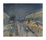 The Boulevard Montmartre at Night, 1897 Premium Giclee Print by Camille Pissarro